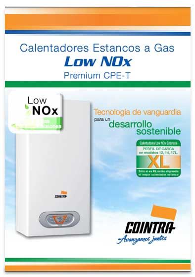catalogo calentador cointra premium cpe 14 t