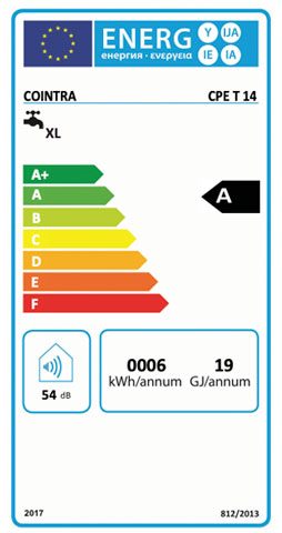 etiqueta de eficiencia energetica calentador cointra premium cpe 14 t