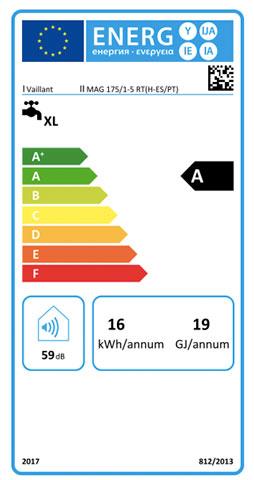 etiqueta de eficiencia energetica calentador vaillant turbomag plus 175/1-5