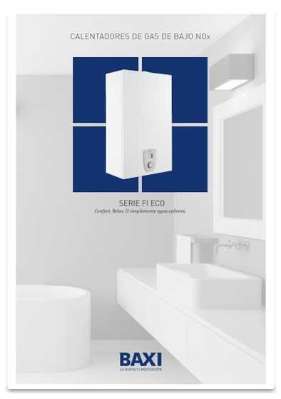 folleto calentador baxi serie fi eco 11