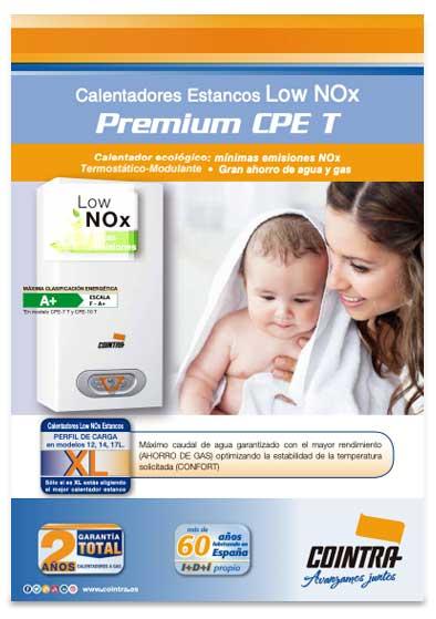 folleto calentador cointra premium cpe 14 t