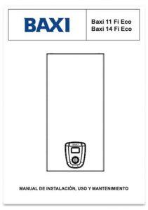 manual usuario calentador baxi serie fi eco 14