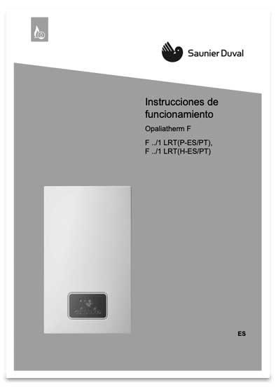 manual usuario calentador saunier duval opaliatherm f 15/1