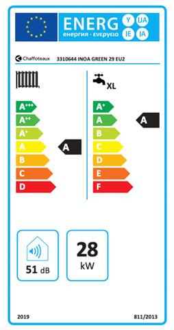 etiqueta de eficiencia energetica caldera chaffoteaux inoa green 29 eu
