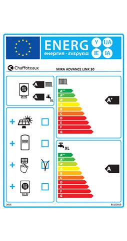 etiqueta de eficiencia energetica caldera chaffoteaux mira advance link 30