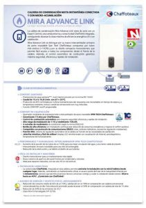 folleto caldera chaffoteaux mira advance link 35