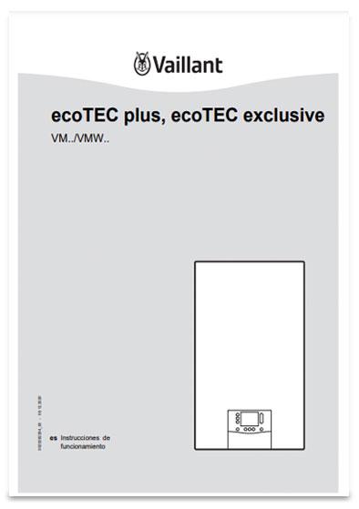manual usuario calderas vaillant ecotec plus smart solo calefaccion y mixtas con microacumulacion
