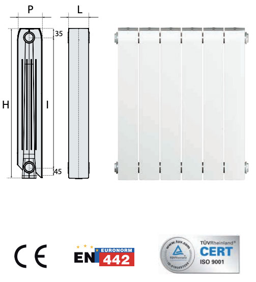 calefaccion radiador aluminio tra