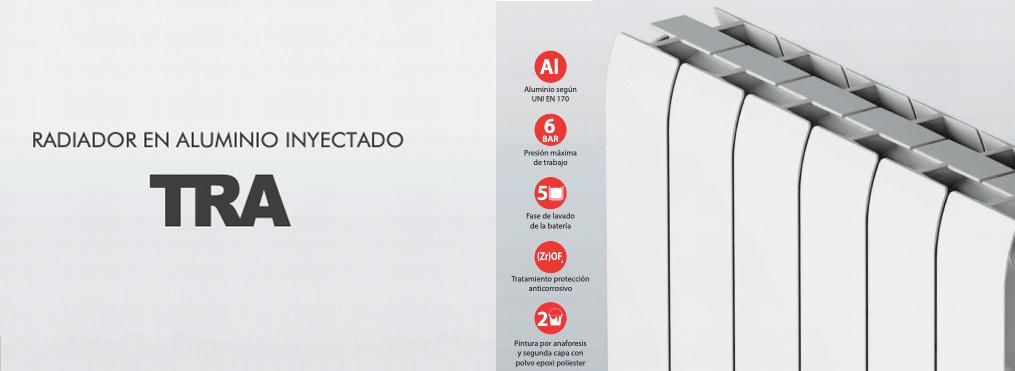 calefaccion radiador de aluminio tra
