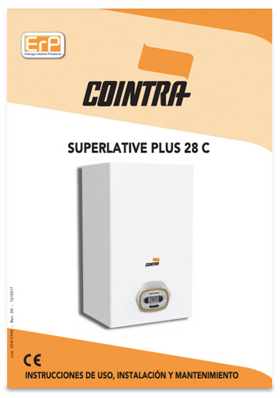 manual instrucciones caldera cointra superlative plus 28 c