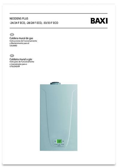 manual usuario calderas baxi neodens plus eco