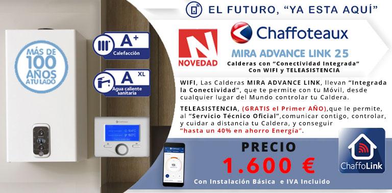 novedad chaffoteaux mira advance link 25 conectividad movil